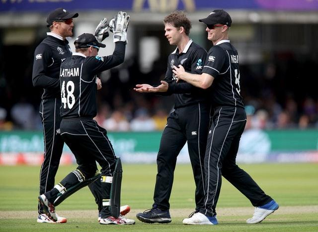Lockie Ferguson, second right, is in line for his Test debut (Nick Potts/PA)