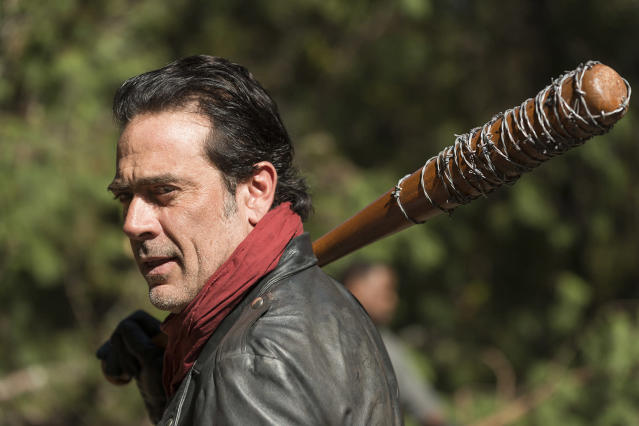 Jeffrey Dean Morgan as Negan in <em>The Walking Dead</em> (Photo: Gene Page/AMC)