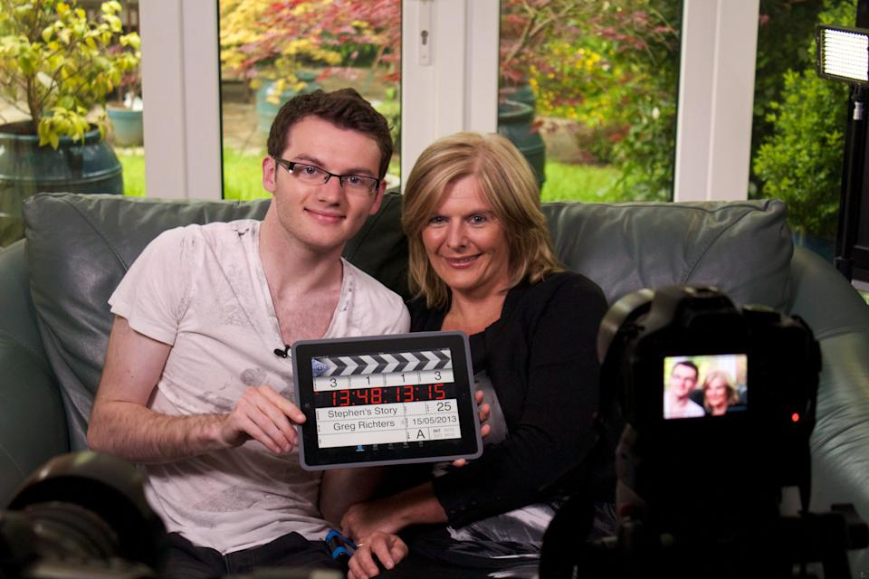 Stephen and his mother Jane Sutton