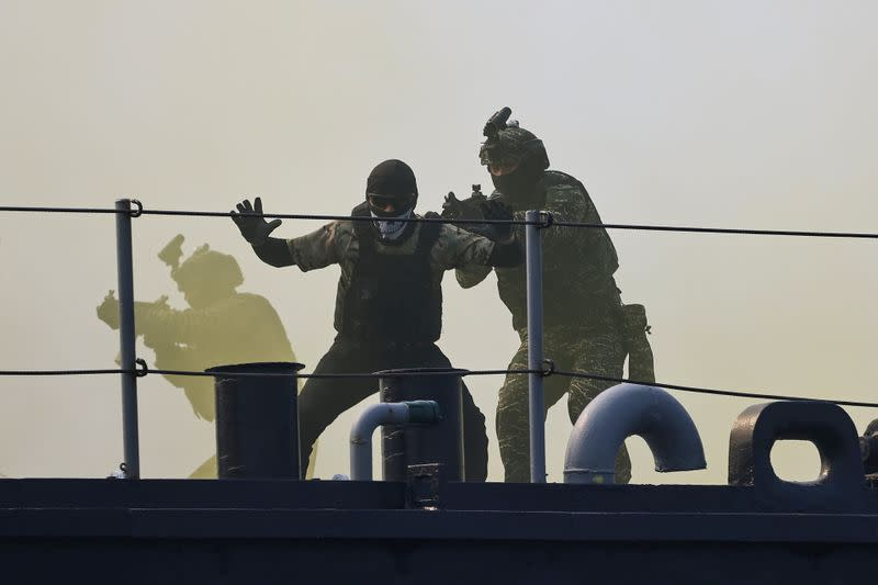 Navy drill ahead of the Lunar New Year in Kaohsiung