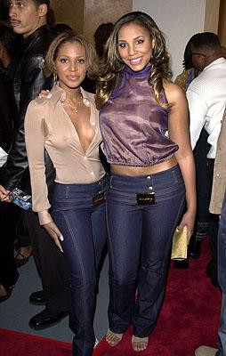 """Premiere: <a href=""""/movie/contributor/1800203095"""">Toni Braxton</a> with sister <a href=""""/movie/contributor/1802185121"""">Tamar Braxton</a> at the Hollywood premiere of Fox Searchlight's <a href=""""/movie/1804361318/info"""">Kingdom Come</a> - 4/4/2001<br><font size=""""-1"""">Photo by <a href=""""http://www.wireimage.com"""">Arnold Turner/Wireimage.com</a></font>"""