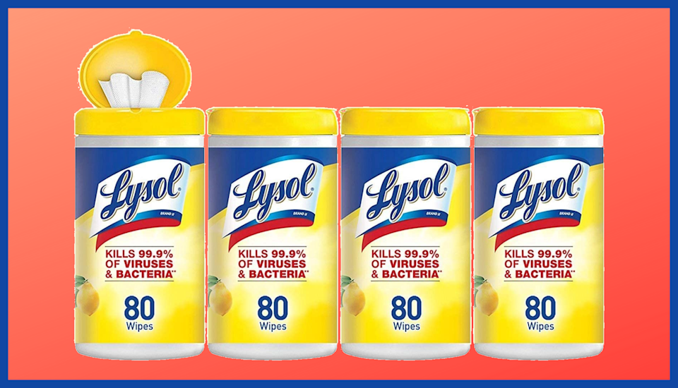 Now's your chance to stock up on Lysol Disinfecting Wipes without paying a fortune. (Photo: Amazon)