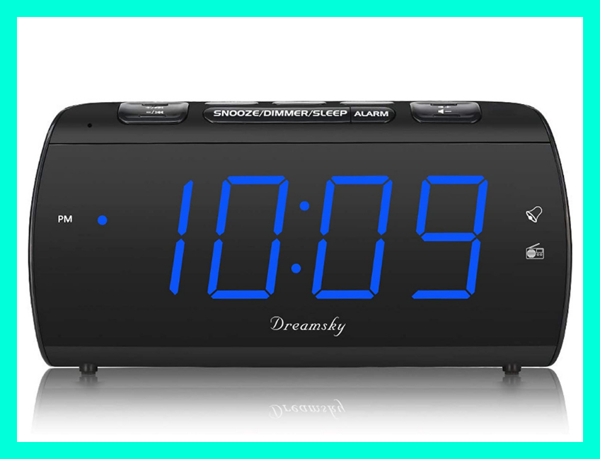 This alarm clock charges your phone as you snooze. (Photo: Amazon)