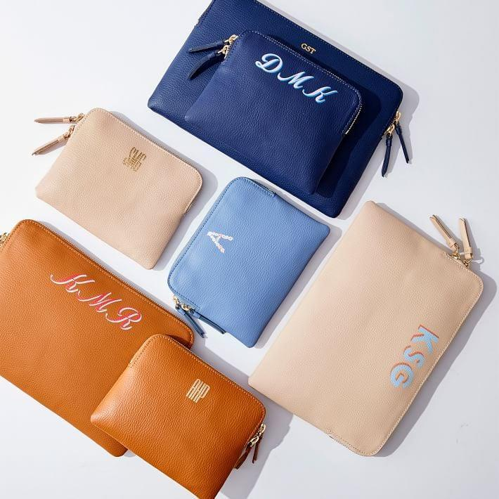 <p>This <span>Mark &amp; Graham Leather Mini Zipper Pouch</span> ($33, originally $49) will be her go-to.</p>