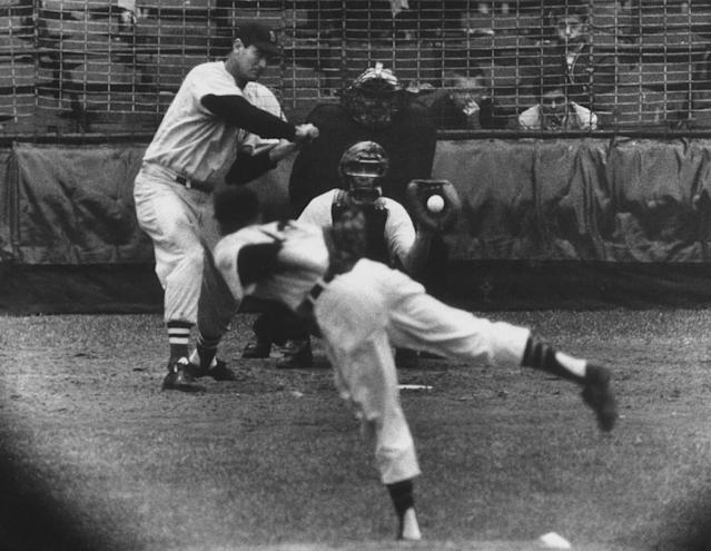 Ted Williams challenged .400 in 1957, late in his career. (Photo by Frank Scherschel/The LIFE Picture Collection via Getty Images)