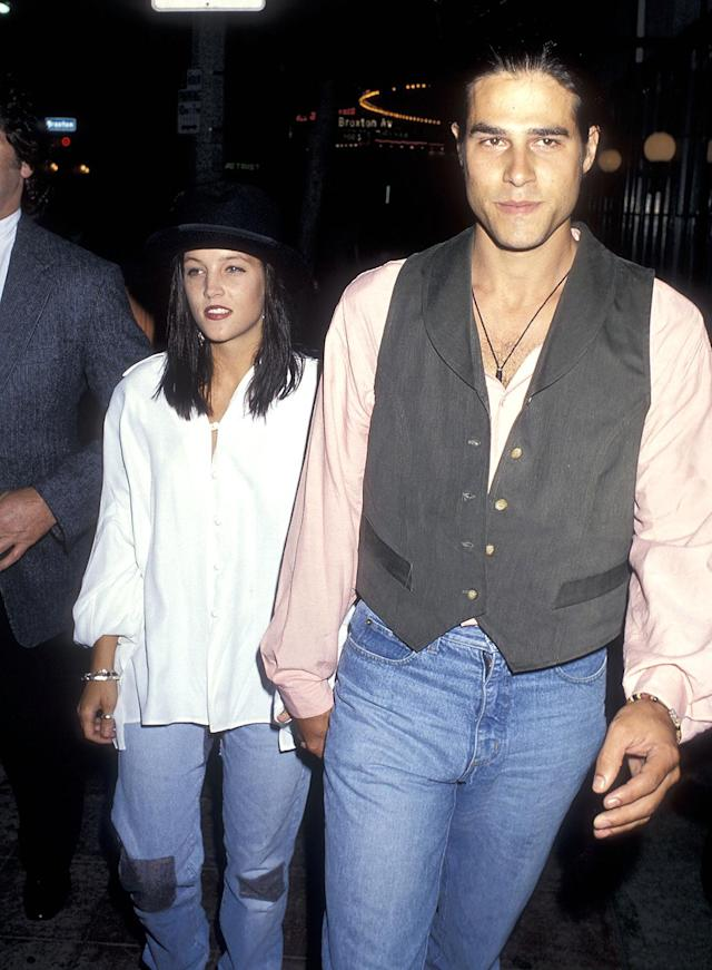 "<p>Lisa Marie, who inherited her father's estate, didn't follow in his footsteps to a music career until the aughts. Prior to that, her romances made the biggest headlines. In 1988, 20-year-old Lisa Marie married musician Danny Keough. They had two children together — actress Riley Keough, now 28, and Benjamin, 25. The couple, pictured here in 1991, was divorced by 1994 but remained close. For a period, Keough, also a Scientologist, lived in Lisa Marie's guesthouse. ""We keep that unit very in order, no matter how crazy we are,"" she told ABC News. (Photo: Ron Galella, Ltd./WireImage) </p>"