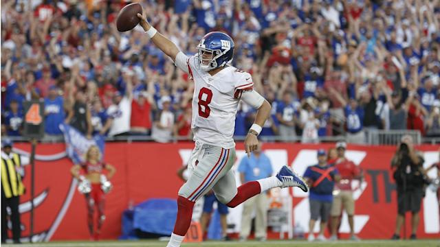 Daniel Jones led the New York Giants to their first win of the NFL season, while Tom Brady and the New England Patriots triumphed again.