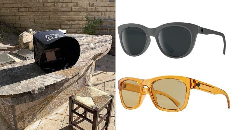 These anti-glare gadgets are sure to encourage you to work outdoors on the brightest of days.