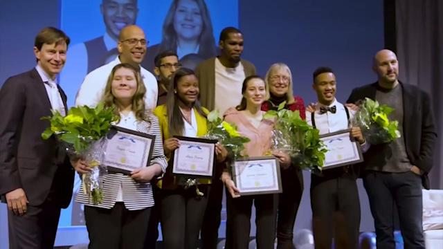 Kevin Durant is so good, he rarely surprises us on the court with his performance for the Golden State Warriors. But he did surprise four Bay Area high school seniors by paying the tuition for their first year of college.