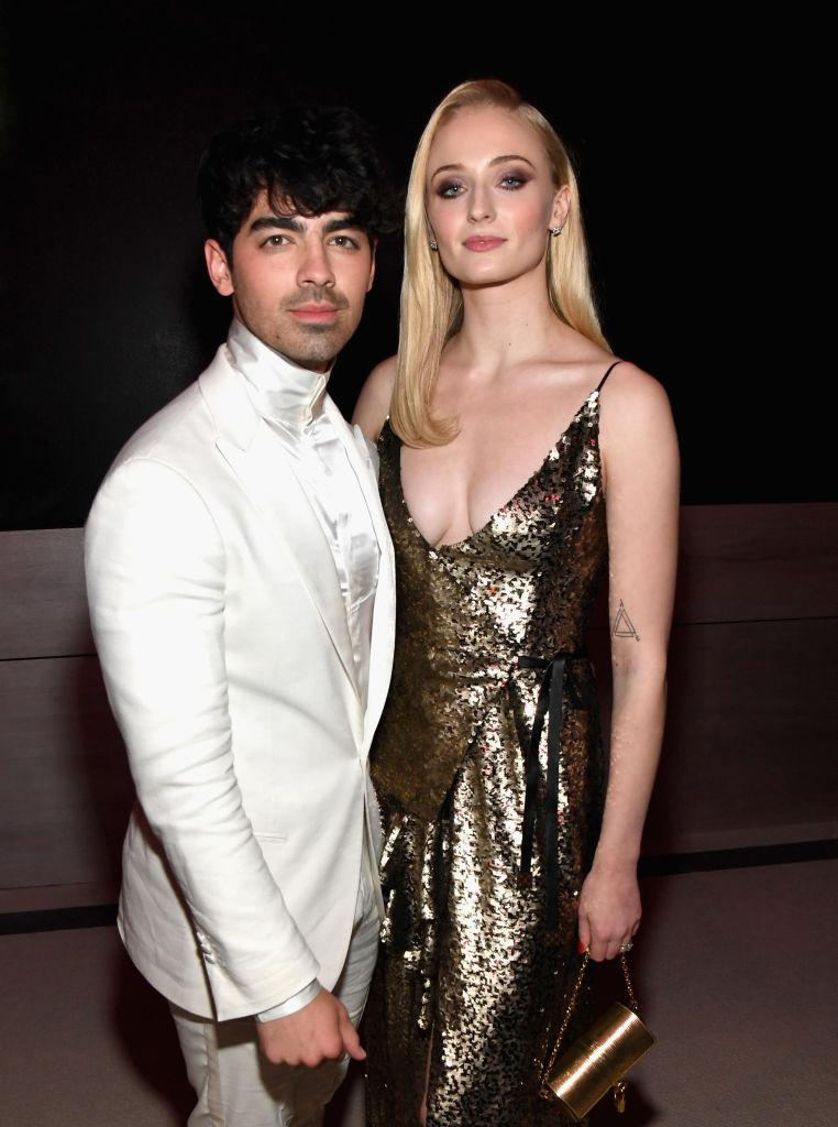 Sophie Turner and husband Joe Jonas took to Instagram Live to make a pointed statement on social distance. (Image via Getty Images).