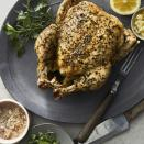 <p>This basic Instant Pot whole chicken is moist and delicious. Plenty of garlic and fresh herbs flavor this healthy chicken recipe that can be enjoyed as a meal on its own or shredded and used in soups or as a topping for salad. In addition to the garlic and herb chicken, see Tips (below) for a lemon-garlic variation and a lemongrass and lime version of the basic recipe. Whichever version you choose, this pressure-cooker chicken requires just 15 minutes of active time.</p>