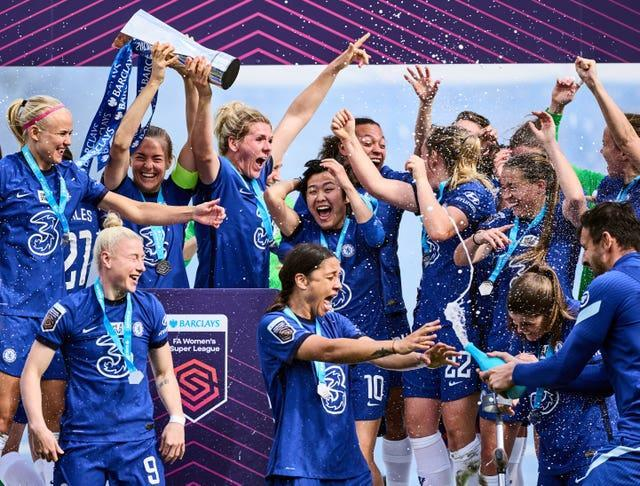 Winning on Sunday would secure the third trophy of a possible quadruple for Women's Super League champions Chelsea (John Walton/PA).