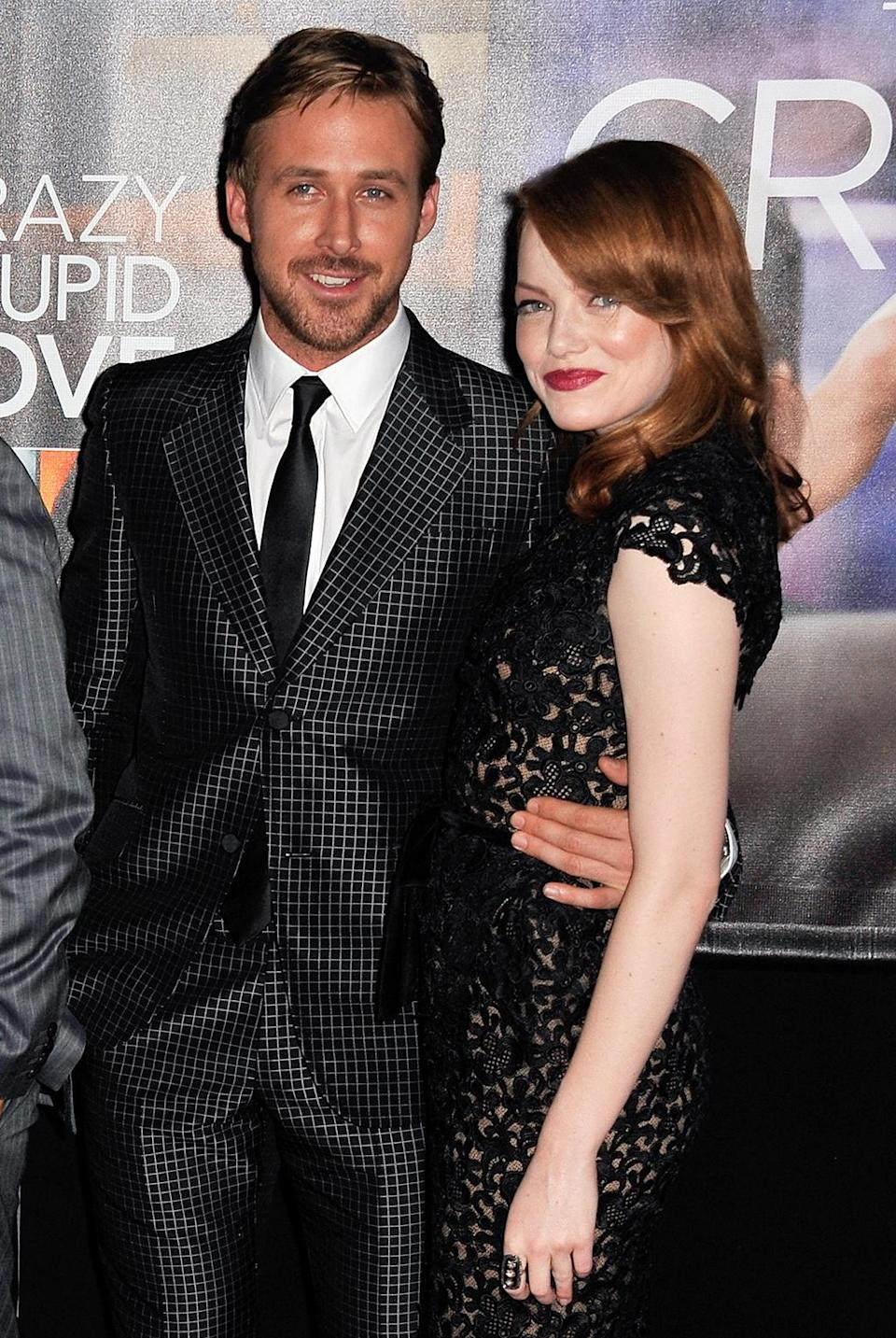 <p>Stone and Ryan Gosling first display their onscreen chemistry in this 2011 rom-com. (Photo: D Dipasupil/FilmMagic) </p>