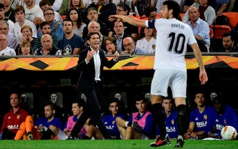 Valencia manager vs Arsenal - Credit: AFP