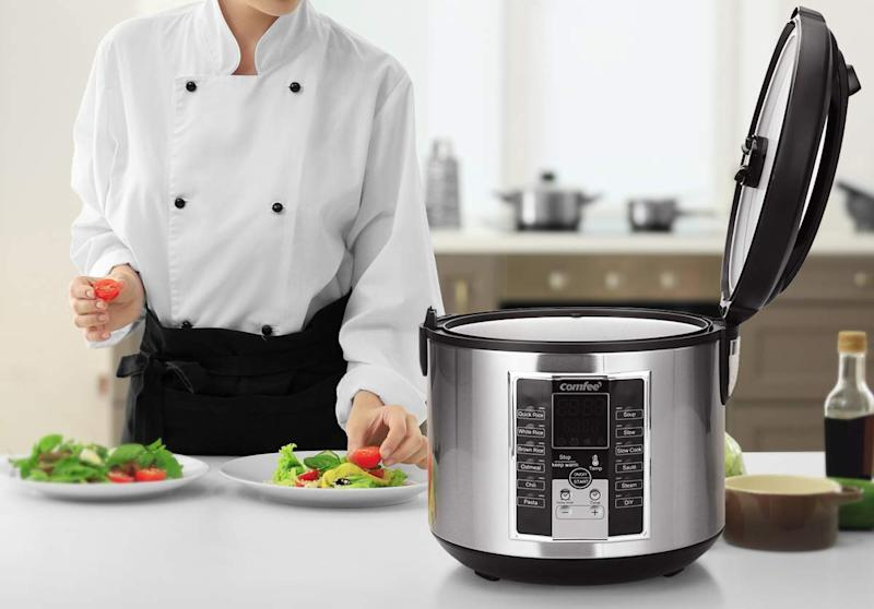 With an impressive 12 programs, this versatile appliance can seamlessly churn out perfectly-cooked food for the entire family. (Photo: Amazon)
