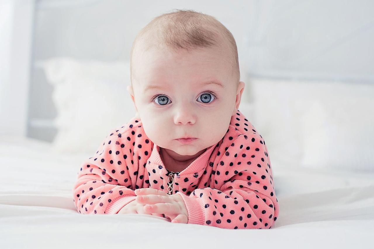 """<p>In 2019 Elodie ranked <a href=""""https://www.babycenter.com/baby-names-elodie-1523.htm"""" target=""""_blank"""">just below the 1,000th</a> most popular baby name in the US, making it a very unique choice. Greek for """"white blossom,"""" it's hard to imagine her as anything but lovely.</p>"""