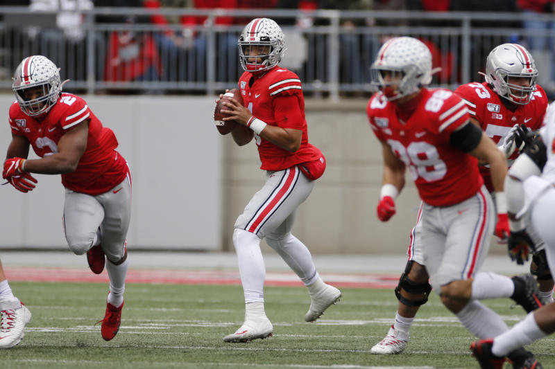 Ohio State and Justin Fields offer the best value among CFP favorites. (AP Photo/Jay LaPrete)