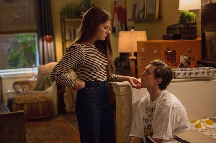 Marisa Tomei and Tom Holland as Aunt May and Peter Parker (credit: Sony/Marvel Studios)