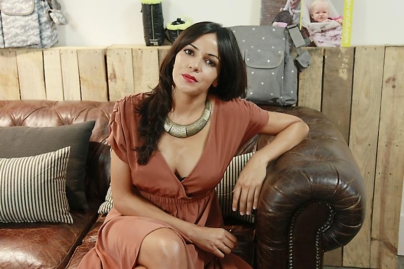 MADRID, SPAIN - SEPTEMBER 17: Singer Raquel del Rosario presents the new collection of 'Walking Mum' by Pasito a Pasito on September 17, 2014 in Madrid, Spain. (Photo by Europa Press/Europa Press via Getty Images)