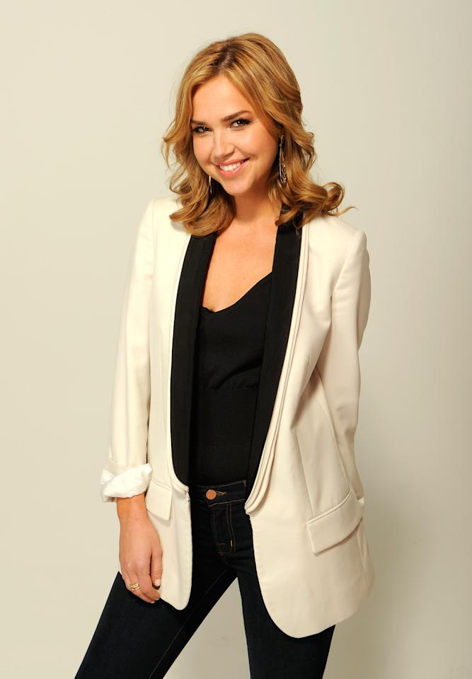 NEW YORK, NY - APRIL 23:  Actress Arielle Kebbel of the film 'Supporting Characters' visits the Tribeca Film Festival 2012 portrait studio at the Cadillac Tribeca Press Lounge on April 23, 2012 in New York City.  (Photo by Larry Busacca/Getty Images)