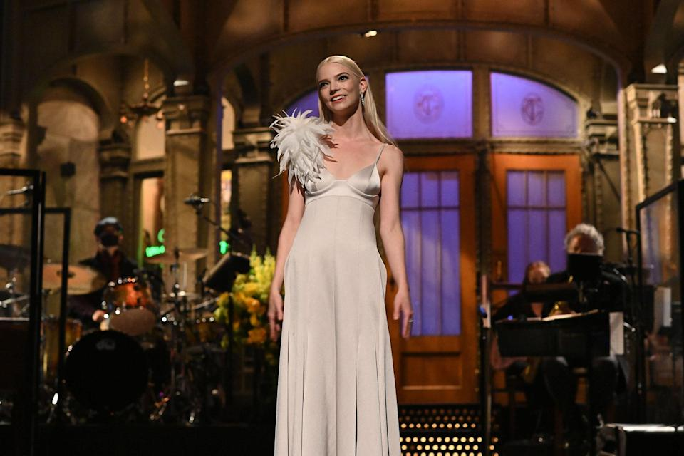 <p>WHO: Anya Taylor-Joy</p> <p>WHAT: Peter Do</p> <p>WHERE: Saturday Night Live</p> <p>WHEN: May 22</p>