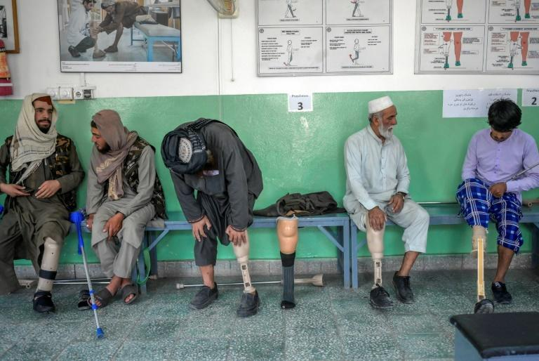 In Afghanistan, with poor health services and where the disabled typically become heavy burdens on their families, being equipped with new limbs and learning to walk again is a privilege (AFP/BULENT KILIC)