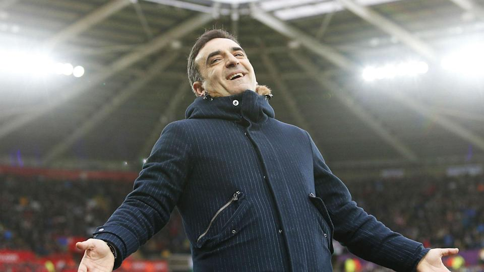 Swansea beat Burnley to record a fourth league win in Carlos Carvalhal's brief reign as his rescue act continues.