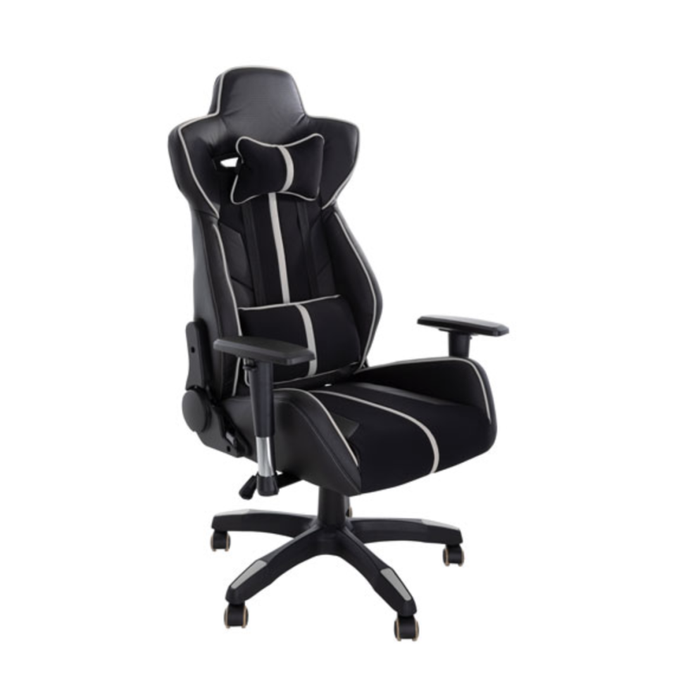 Brassex Milo Fabric Gaming Chair with Tilt and Recline - $230 (originally $400).