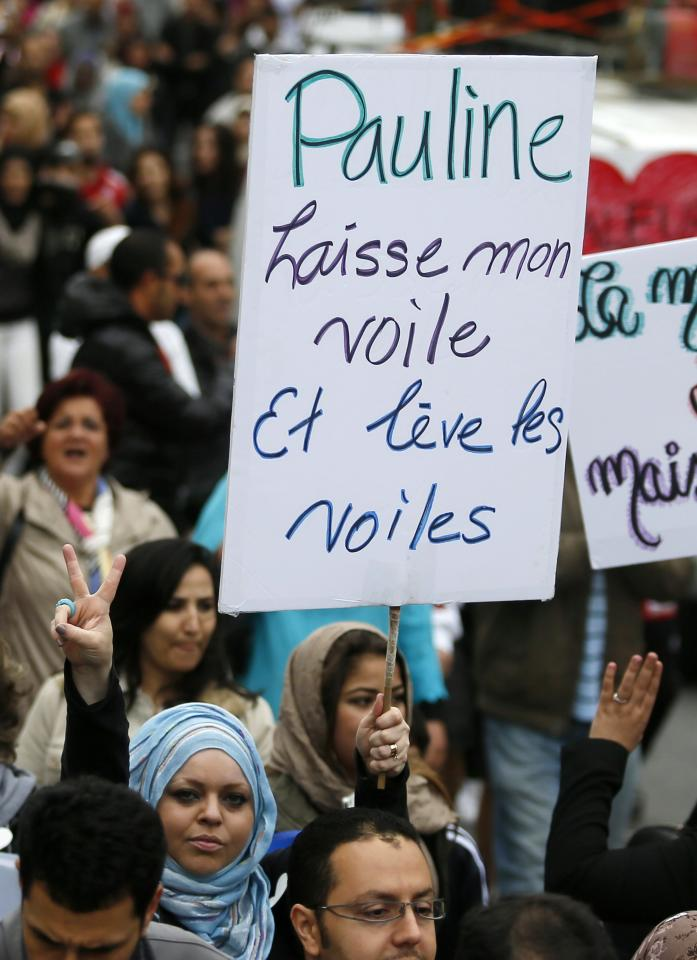 Demonstrators protest against Quebec's proposed Charter of Values in Montreal