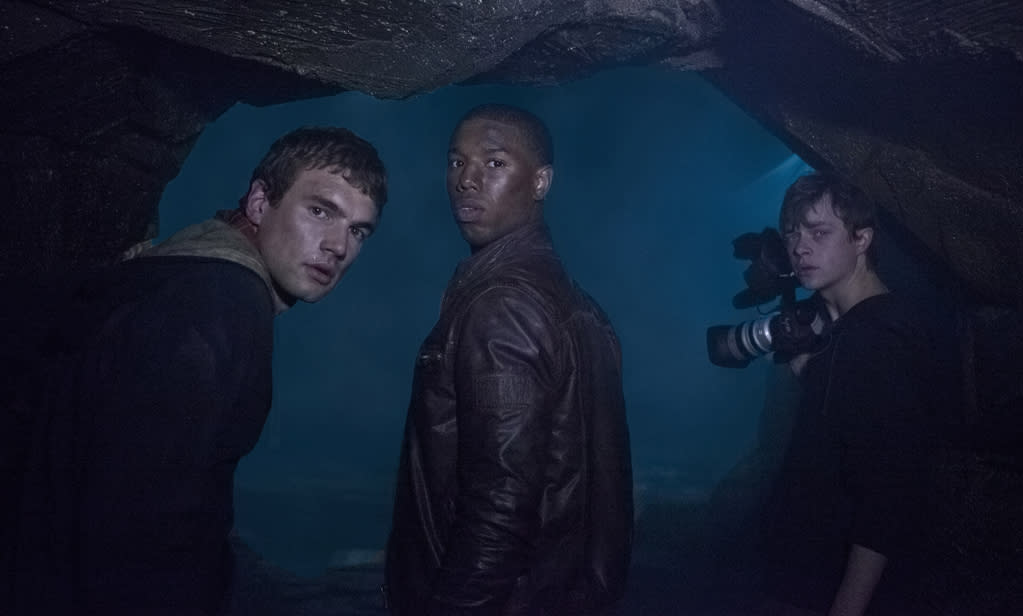 "Dane DeHaan, Michael B. Jordan and Alex Russell in 20th Century Fox's ""<a href=""http://movies.yahoo.com/movie/chronicle-2012/"">Chronicle</a>"" - 2012"