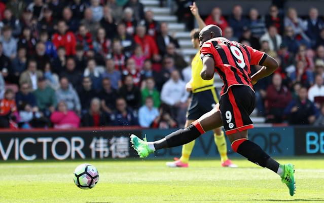 <span>Benik Afobe slotted in Bournemouth's second goal after 16 minutes</span> <span>Credit: GETTY IMAGES </span>