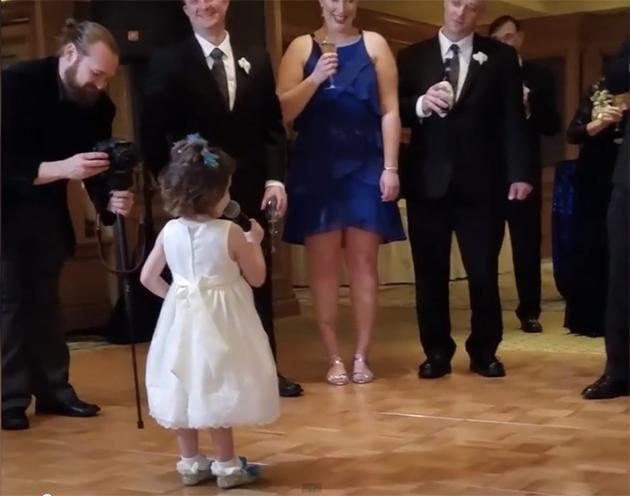 Who needs an MC when you have this four-year-old? Photo: America's Funniest Home Videos