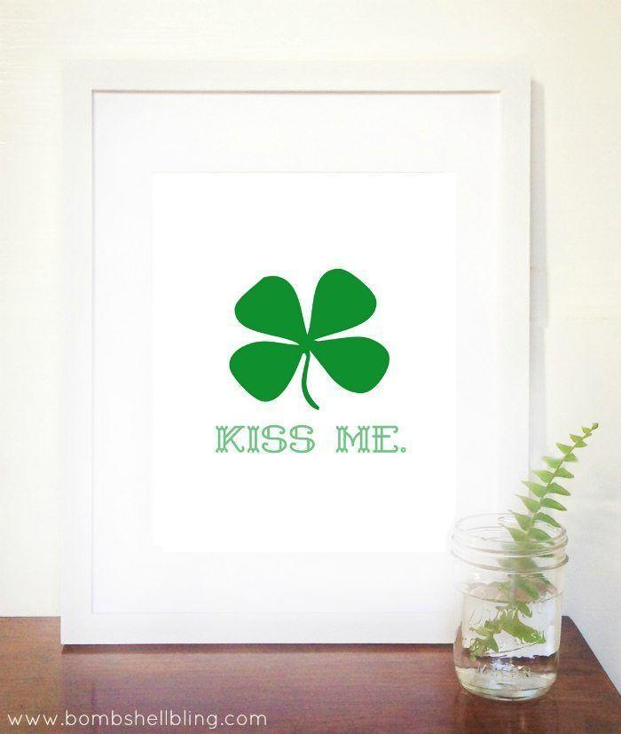"""<p>There's little St. Paddy's décor that's easier to DIY than framing this super cute (and cheeky) free printable. </p><p><strong>Get the printable at <a href=""""https://www.bombshellbling.com/kiss-free-st-patricks-day-printable/"""" rel=""""nofollow noopener"""" target=""""_blank"""" data-ylk=""""slk:Bombshell Bling"""" class=""""link rapid-noclick-resp"""">Bombshell Bling</a>.</strong></p><p><strong><a class=""""link rapid-noclick-resp"""" href=""""https://go.redirectingat.com?id=74968X1596630&url=https%3A%2F%2Fwww.walmart.com%2Fsearch%2F%3Fquery%3Dpicture%2Bframes&sref=https%3A%2F%2Fwww.thepioneerwoman.com%2Fhome-lifestyle%2Fcrafts-diy%2Fg34931626%2Fst-patricks-day-decorations%2F"""" rel=""""nofollow noopener"""" target=""""_blank"""" data-ylk=""""slk:SHOP PICTURE FRAMES"""">SHOP PICTURE FRAMES</a><br></strong></p>"""