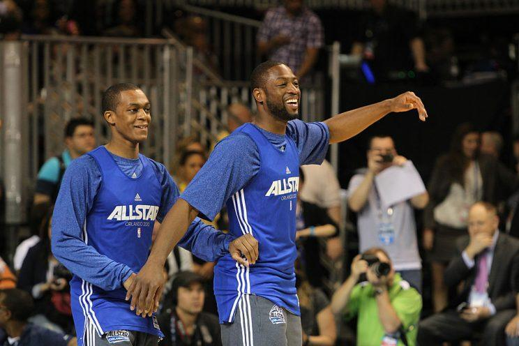 Rajon Rondo and Dwyane Wade won 33.3 percent of their games as All-Star teammates. #advancedstats (Getty Images)