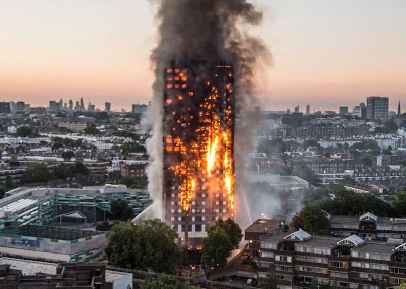 The fire at Grenfell Tower (JEREMY SELWYN)