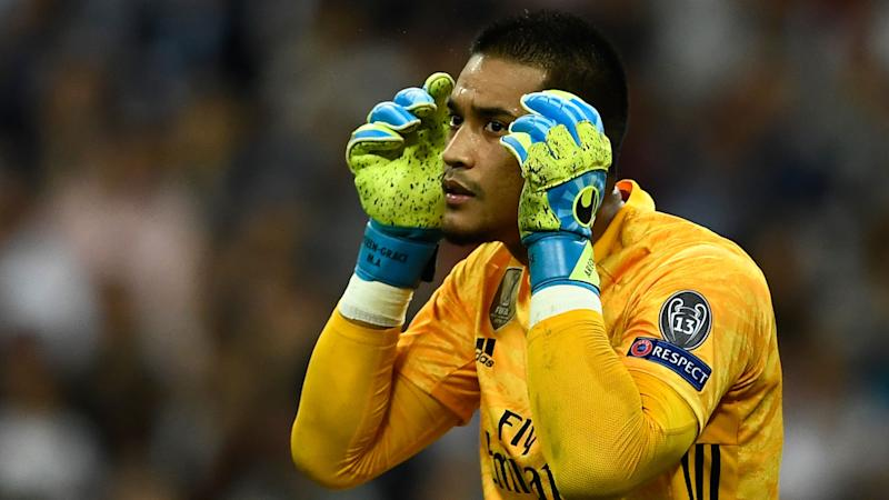 Alphonse Areola Real Madrid Club Brugge UCL 01102019