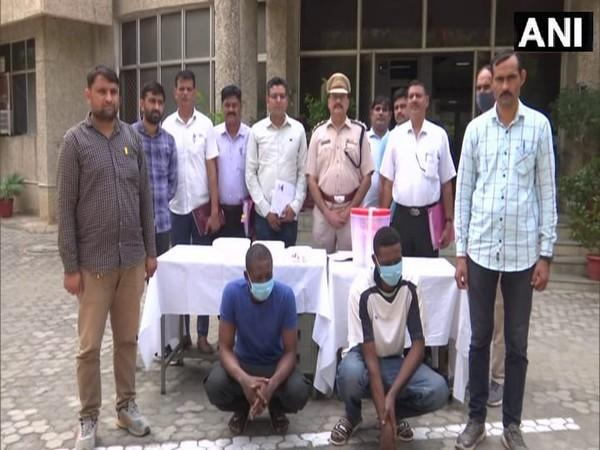 Three foreign nationals were held by Delhi Police for allegedly peddling heroin. (Photo/ANI)