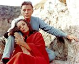 """<p>Actors Richard Burton and Elizabeth Taylor were the <a href=""""https://www.womansday.com/life/entertainment/g2243/elizabeth-taylor-and-richard-burton-love-story/"""" rel=""""nofollow noopener"""" target=""""_blank"""" data-ylk=""""slk:OG on-again, off-again tabloid couple"""" class=""""link rapid-noclick-resp"""">OG on-again, off-again tabloid couple</a>. The two met on the set of Cleopatra in 1962, when both of them were already married. (Elizabeth was married to Eddie Fisher, whom she stole from her BFF Debbie Reynolds, but <a href=""""https://www.womenshealthmag.com/relationships/g30232425/celebrity-couples-affairs/?slide=11"""" rel=""""nofollow noopener"""" target=""""_blank"""" data-ylk=""""slk:that's another story"""" class=""""link rapid-noclick-resp"""">that's another story</a>.) The couple's affair led to marriage in 1964, but they divorced in June 1974. That didn't last long, as they remarried in October 1975 only to divorce less than a year later.</p>"""