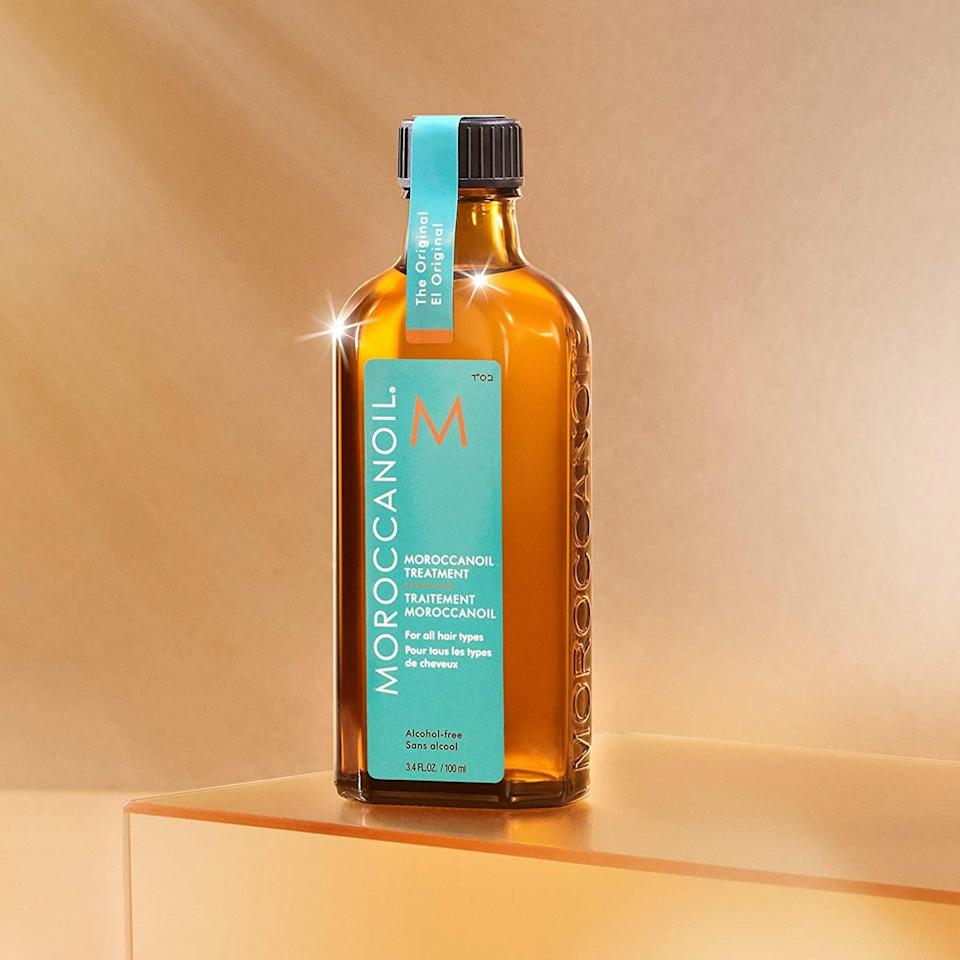 <p>Boost shine and luster with the argan oil-infused <span>Moroccanoil Treatment</span> ($44). Control frizz and flyaways, revive dried ends, or give your hair a heavenly scent with a few drops of this treatment.</p>