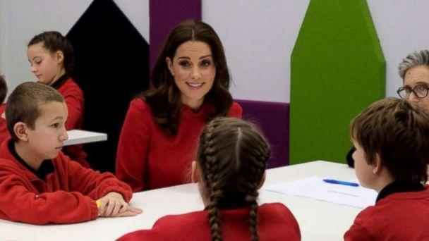 PHOTO: Kate Middleton takes part in a feedback session with young children from The Friars Primary School during a visit to Manchester, U.K. for the Children's Global Media Summit, Dec. 6, 2017. (Kensington Palace/Twitter)