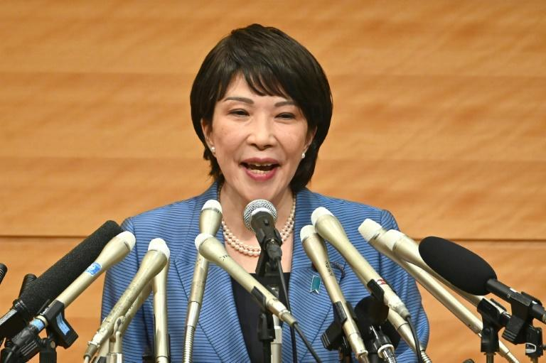 Takaichi is a hawkish nationalist and only the second politician to declare she will stand for the ruling party's leadership (AFP/Kazuhiro NOGI)
