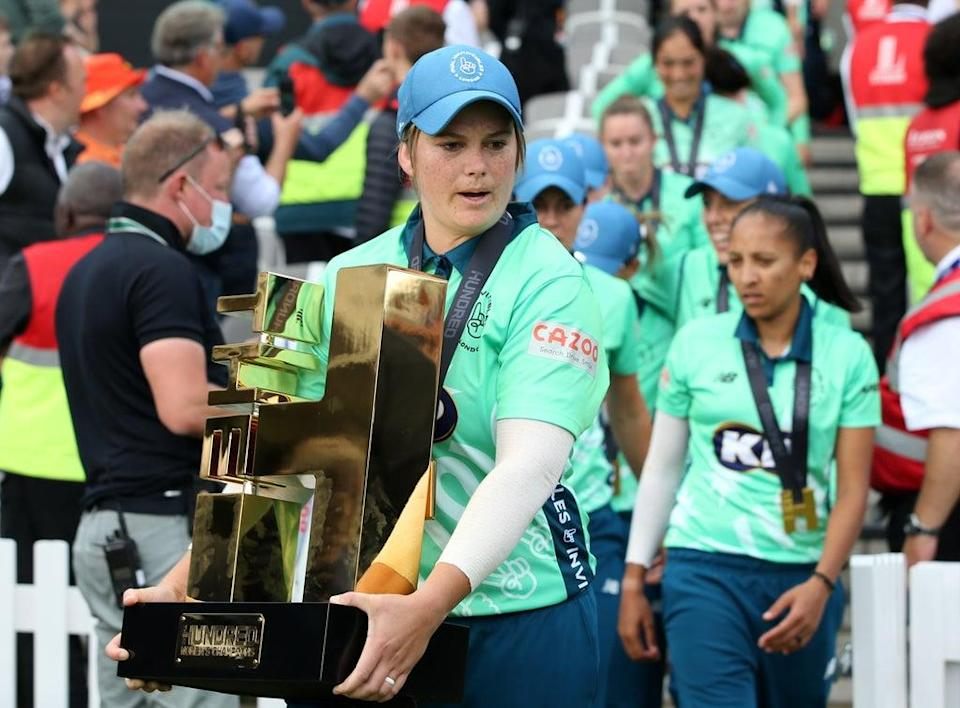 """Oval Invincibles captain Dane Van Niekerk hailed """"incredible"""" wife and teammate Marizanne Kapp for her match-winning performance (Steven Paston/PA) (PA Wire)"""