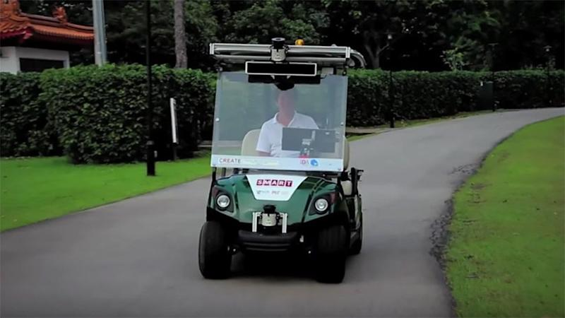 Self driving golf carts launched in singapore for Narrow golf cart