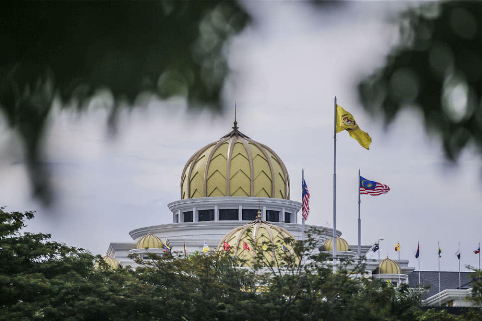 A general picture of the National Palace during the special meeting of the Malay Rulers October 25, 2020. — Picture by Hari Anggara