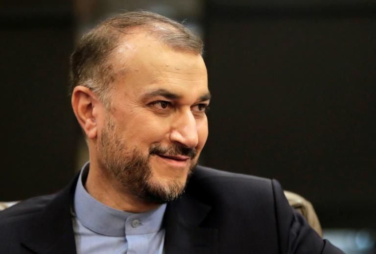 """Iran's Foreign Minister Hossein Amir-Abdollahian said dialogue is """"on the right track"""" (AFP/ANWAR AMRO)"""