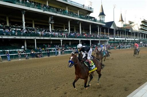 Ky. Derby Winner Authentic Works Out In Prep For Preakness