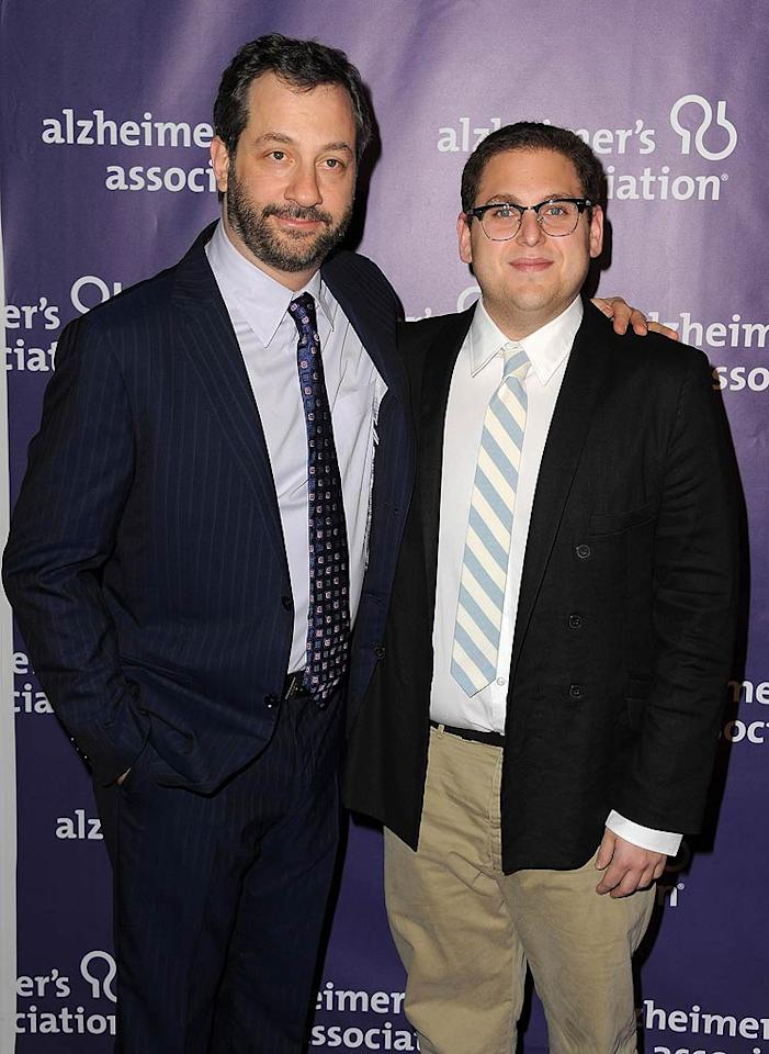 """Seth's """"Superbad"""" cohorts Judd Apatow and Jonah Hill were on hand to support their buddy as he hosted the show. Jordan Strauss/<a href=""""http://www.wireimage.com"""" target=""""new"""">WireImage.com</a> - March 16, 2011"""