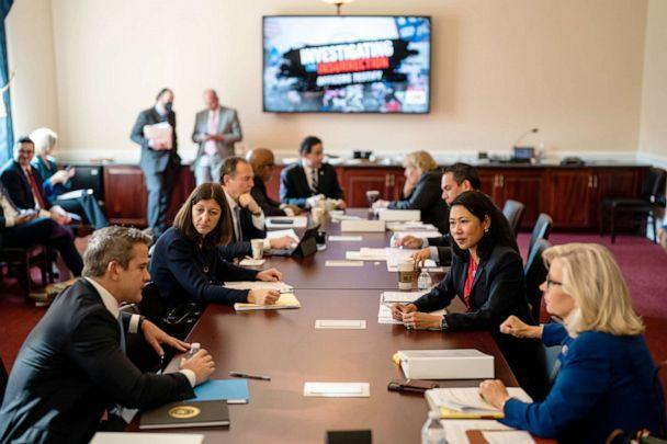 PHOTO: Members of the House select committee investigating the deadly security breach of the U.S. Capitol meet on Capitol Hill, July 27, 2021. (Los Angeles Times via Getty Images. FILE)