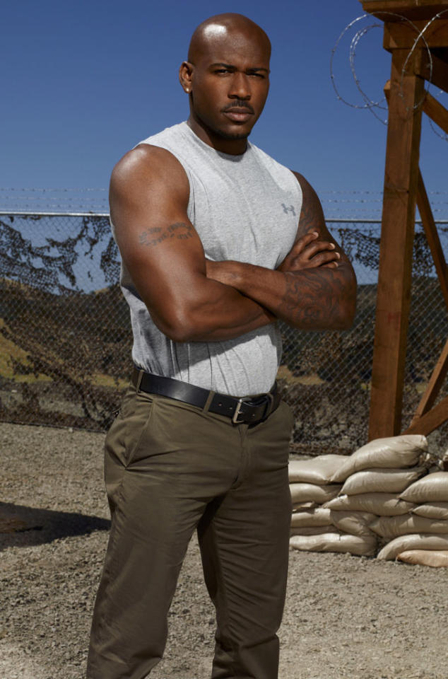 """The Biggest Loser"" trainer Dolvett Quince competes on NBC's ""Stars Earn Stripes."""