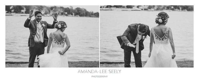 """Dayna and Mack had an amazing first look in Great River, New York."" -- <i>Amanda-Lee Seely </i>"